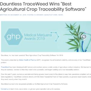 Dauntless Grow Best Ag Product Award